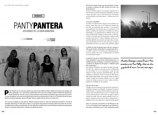 Panty Pantera - entrevista UNDERZINE
