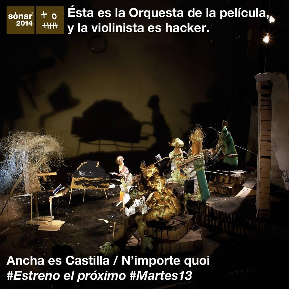 Filmin estrena esta tarde Ancha es Castilla /N'importe quou, la película del Sónar