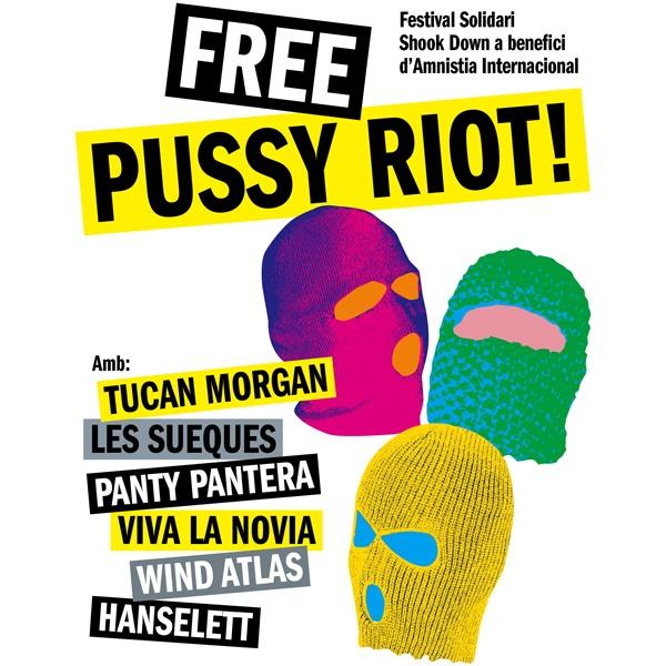 El cartel del Free Pussy Riot, al completo