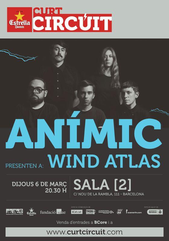 Anímic y Wind Atlas, juntos en el Curtcircuit