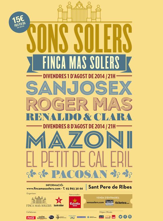 Renaldo & Clara, Sanjosex y Roger Mas inauguran el Sons Solers