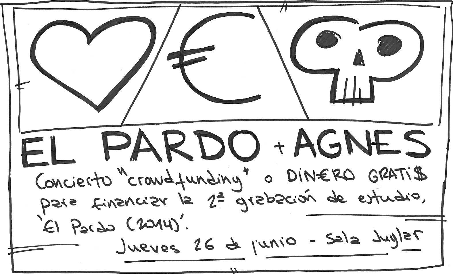 El Pardo busca la financiación para su nuevo disco con un concierto crowdfunding