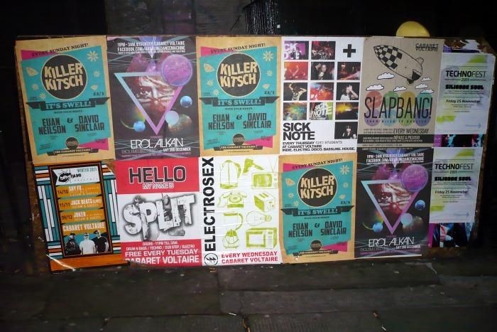 Cada jueves, 10 carteles en el FB de Shook Down