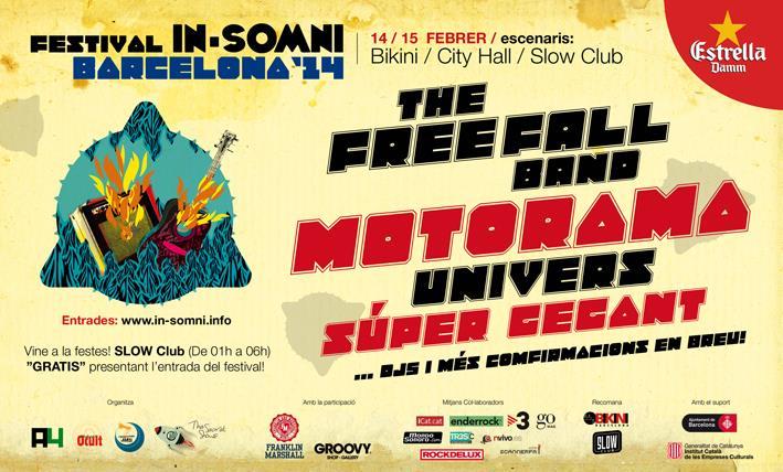 Univers, Súper Gegant, Motorama y The Free Fall Band, confirmados para el In-Somni Barcelona