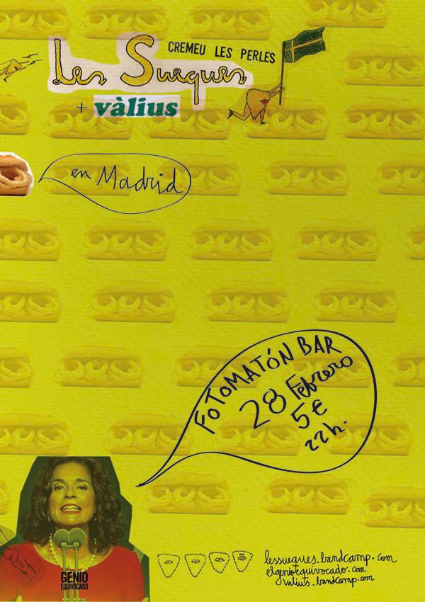 Les Sueques y vàlius, este viernes en Fotomatón Bar (Madrid)