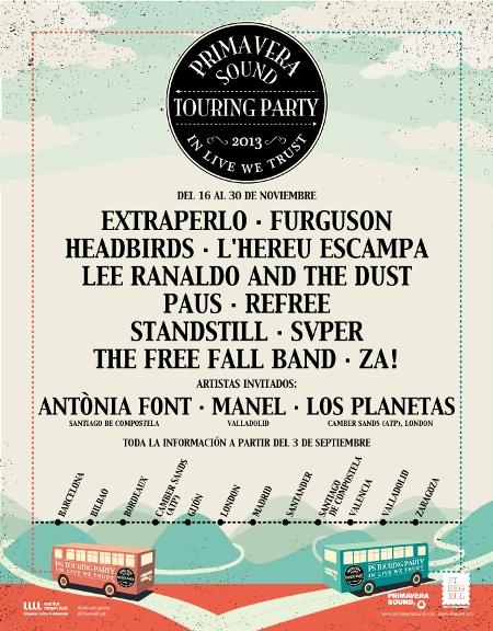 Los nombres del Primavera Sound Touring Party, anunciados en papel
