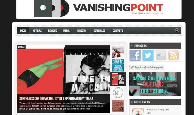 """Vanishing Point // """"Si muchas webs musicales aplicaran la máxima de 'si es bueno para la música es bueno para nosotros' a todas les iría mejor"""""""